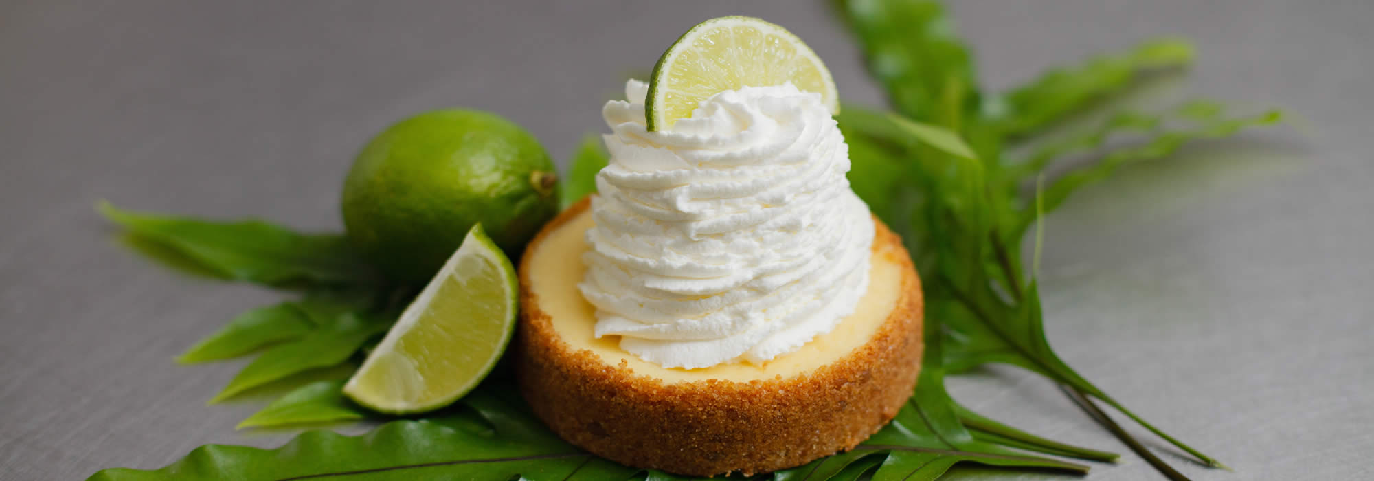 Small Key Lime Tart With Whipped Cream