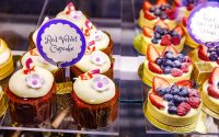 Red Velvet Cupcakes and Fruit Tarts
