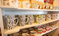 Shelves of Coffee and Tea Mugs