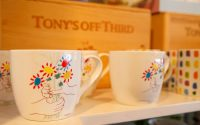 Mugs with Painted Hands and Flowers