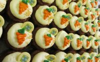 Carrot Cupcakes All Lined Up