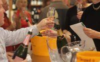 Sampling Champagne at Tony's Off Third