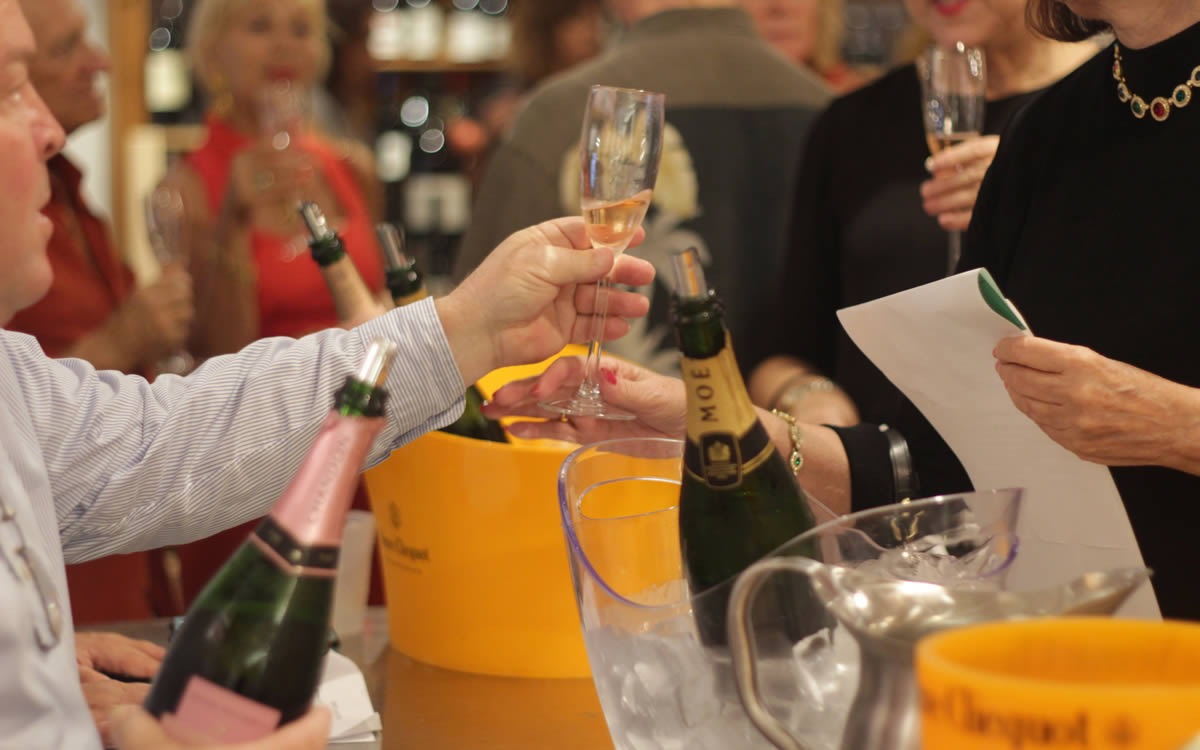 Sampling of Champagne at Tony's Off Third