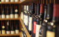 Red Wine Bottles at Tony's Off Third