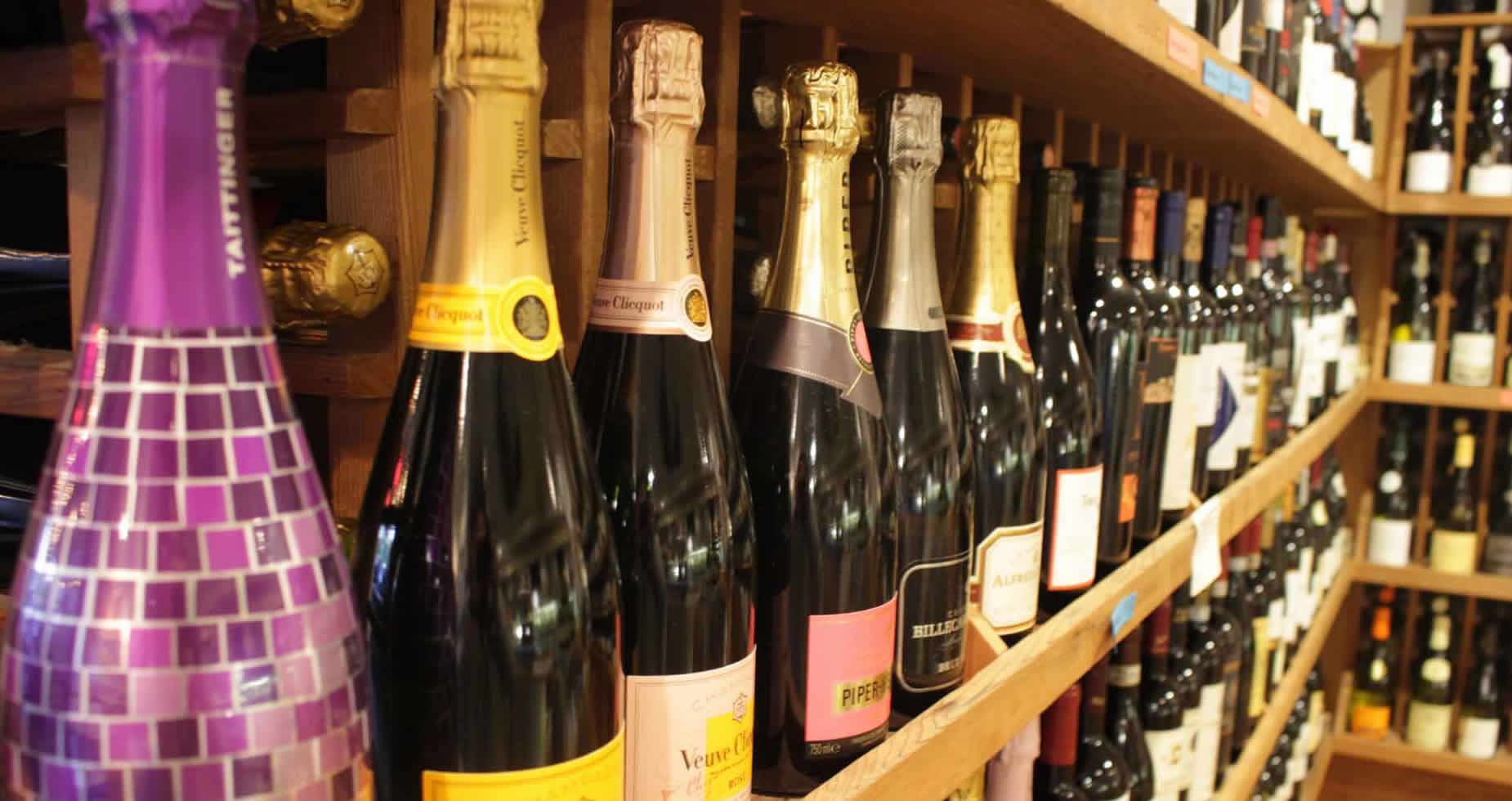 Sparkling Wines on the Shelf at Tony's Off Third