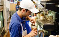 Making Coffee in Tony's Off Third